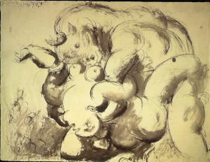 Minotaure et nu (viol) 1933
