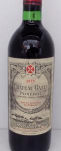Bouteille Gazin 1975
