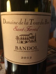 Vin Rouge 2012 AOC Bandol Cuvée Saint-Férréol